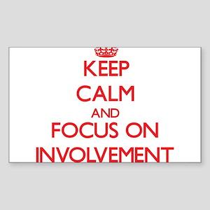 Keep Calm and focus on Involvement Sticker