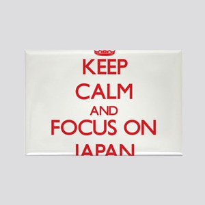 Keep Calm and focus on Japan Magnets