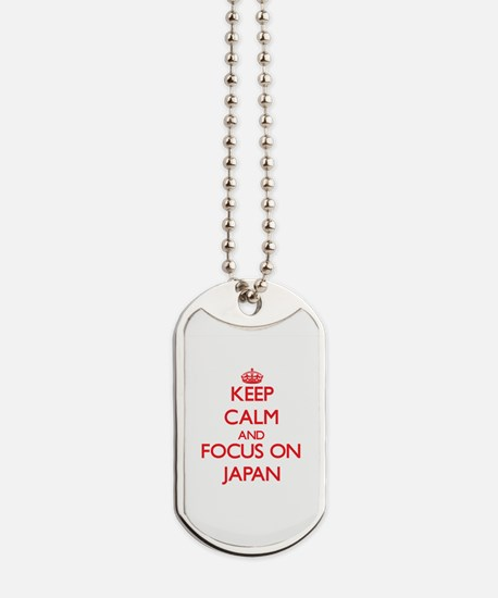 Cute I love japan Dog Tags
