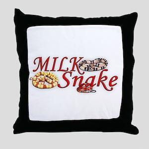 Milk Snake Throw Pillow