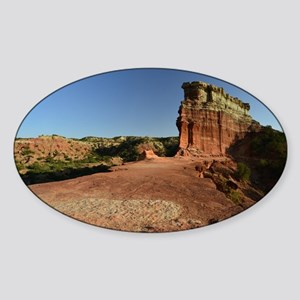 Rock Fin at Palo Duro Canyon Sticker (Oval)