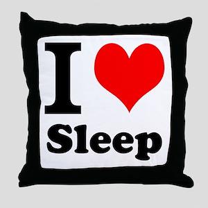I Love Sleep Throw Pillow