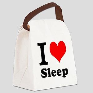 I Love Sleep Canvas Lunch Bag