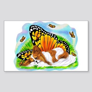 Papillon Mystical Monarch Rectangle Sticker