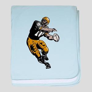 Quarterback baby blanket