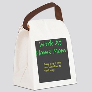 Work at home mom Canvas Lunch Bag