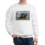 Sunrise Lilies / Doxie's Rule Sweatshirt