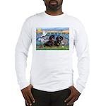 Sunrise Lilies / Doxie's Rule Long Sleeve T-Shirt
