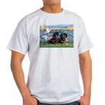 Sunrise Lilies / Doxie's Rule Light T-Shirt