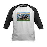 Sunrise Lilies / Doxie's Rule Kids Baseball Jersey