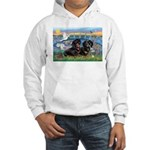 Sunrise Lilies / Doxie's Rule Hooded Sweatshirt