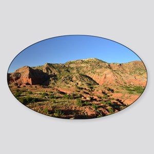Afternoon Light on the Canyon Sticker (Oval)