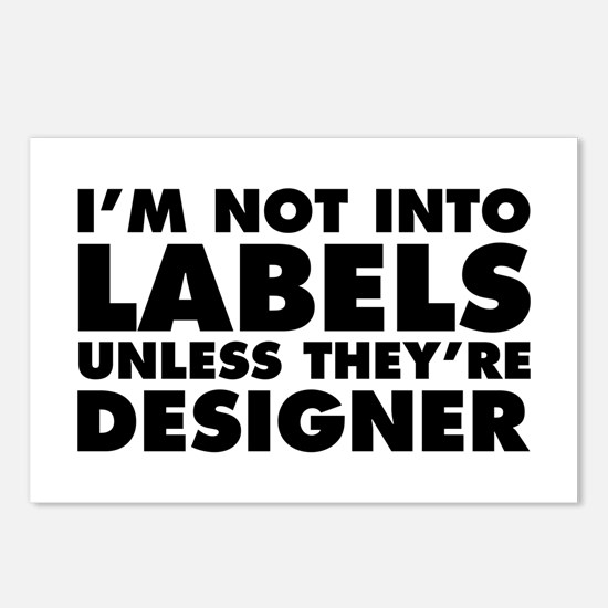 Not Into Labels Unless De Postcards (Package of 8)