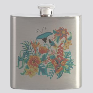 Tropical Flowers Flask