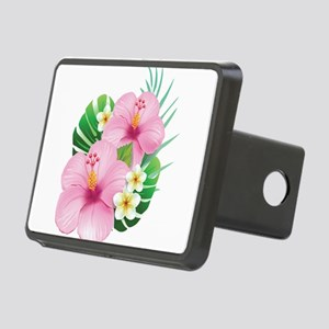 Dual Pink Hibiscus Hitch Cover
