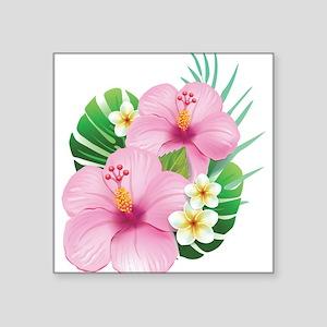 Dual Pink Hibiscus Sticker