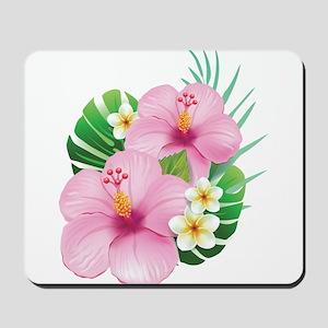 Dual Pink Hibiscus Mousepad