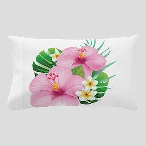 Dual Pink Hibiscus Pillow Case