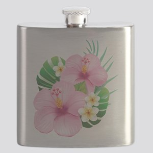 Dual Pink Hibiscus Flask