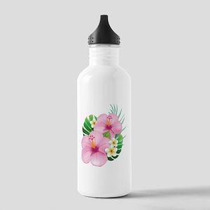 Dual Pink Hibiscus Water Bottle