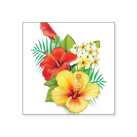 Tropical Hibiscus Sticker