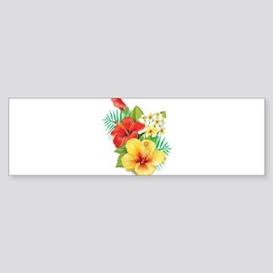 Tropical Hibiscus Bumper Sticker