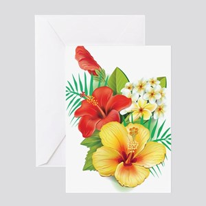 Tropical Hibiscus Greeting Cards