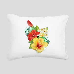 Tropical Hibiscus Rectangular Canvas Pillow