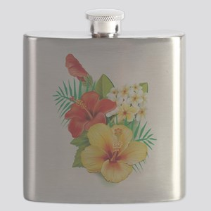 Tropical Hibiscus Flask