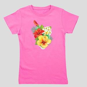 Tropical Hibiscus Girl's Tee