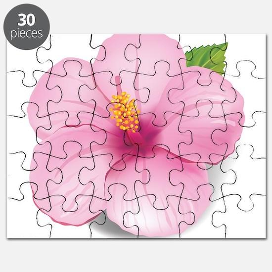 Pink Hibiscus Puzzle