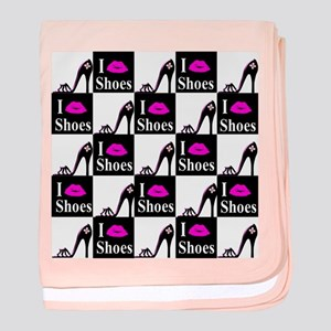 SHOE GIRL baby blanket