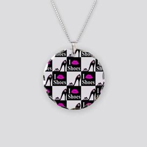 SHOE GIRL Necklace Circle Charm