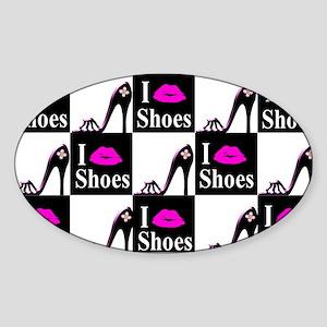SHOE GIRL Sticker (Oval)