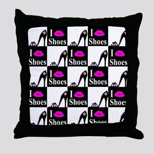SHOE GIRL Throw Pillow