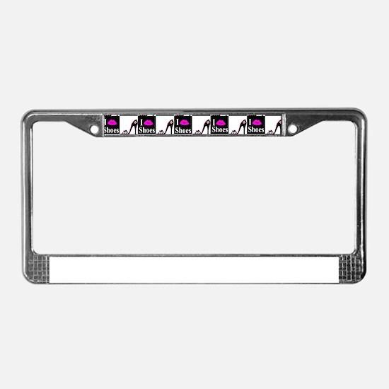 SHOE GIRL License Plate Frame