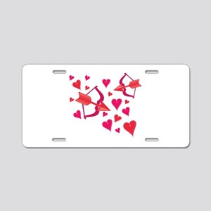 Bow And Arrow Aluminum License Plate