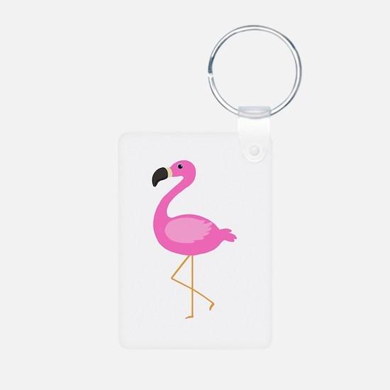 Bubblegum Pink Flamingo Keychains