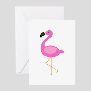 Bubblegum Pink Flamingo Greeting Cards