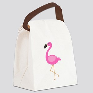 Bubblegum Pink Flamingo Canvas Lunch Bag