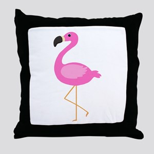 Bubblegum Pink Flamingo Throw Pillow