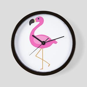 Bubblegum Pink Flamingo Wall Clock
