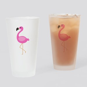 Bubblegum Pink Flamingo Drinking Glass