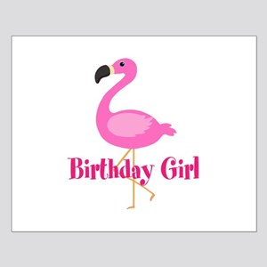 Birthday Girl Pink Flamingo Posters