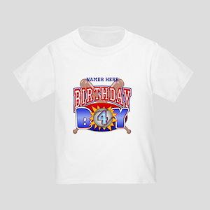 Baseball 4th Birthday Toddler T-Shirt
