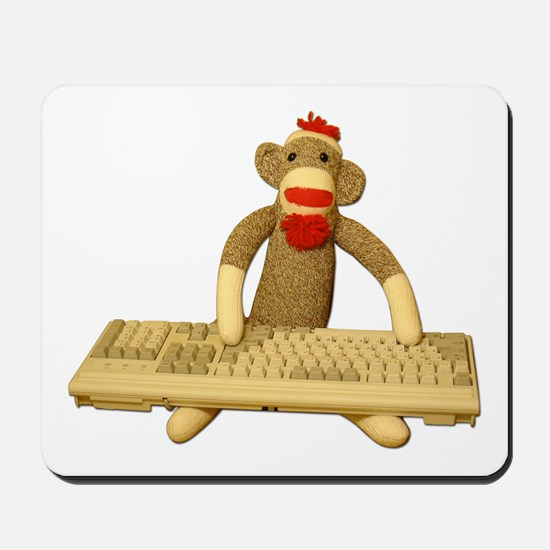 Code Sock Monkey Mousepad