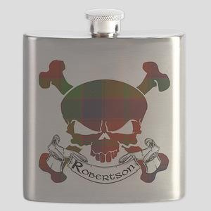 Robertson Tartan Skull Flask