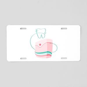 Dental Floss Aluminum License Plate