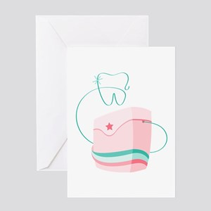 Dental Floss Greeting Cards