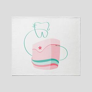 Dental Floss Throw Blanket